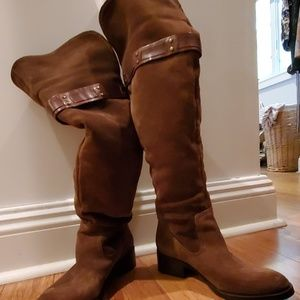 Suede over the knee convertible boots